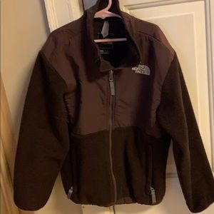Girls brown North Face